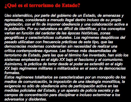 terrorismo estado